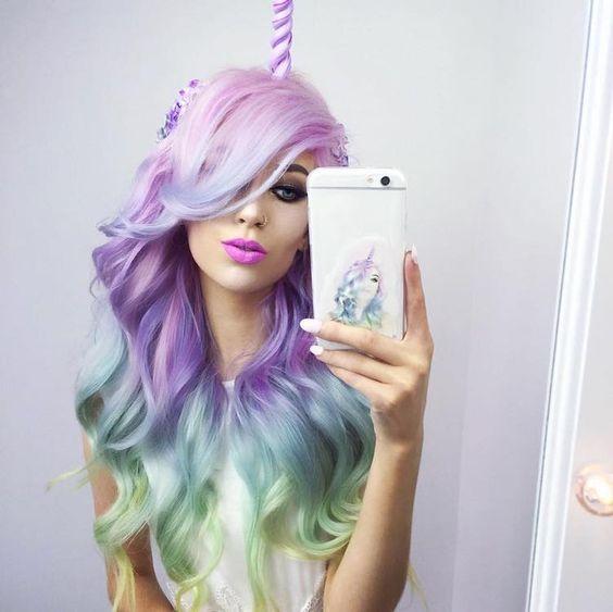 włosy jednorożca